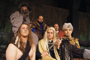 The cast of The Hobbit which plays at The Players Guild Theatre of Canton