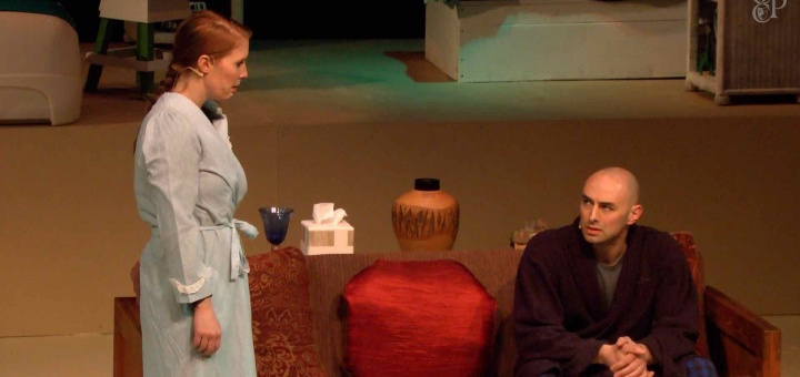 Jodi and Aaron Wolfe as Becca and Howie Corbett in Carnation City Players' Rabbit Hole